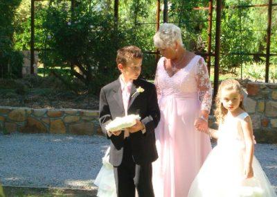 Julius and Helen's wedding day